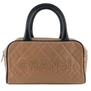 Chanel Quilted Caviar Leather Small Bowler Bag